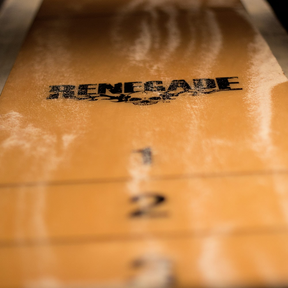 Close up of a Renegade shuffle board