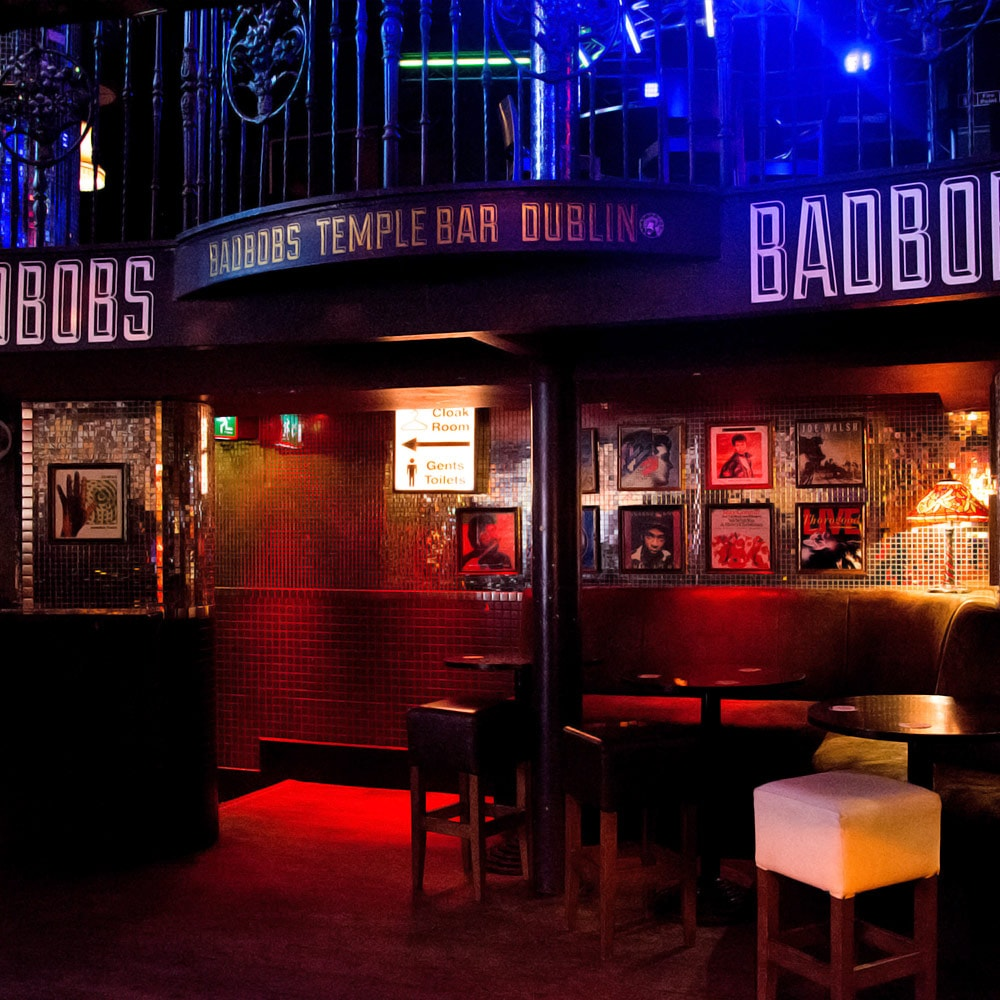 A booth in Bad Bobs Temple Bar