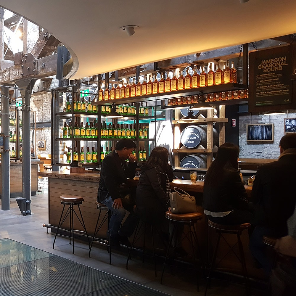 The bar and entrance at Jameson Whiskey distillery
