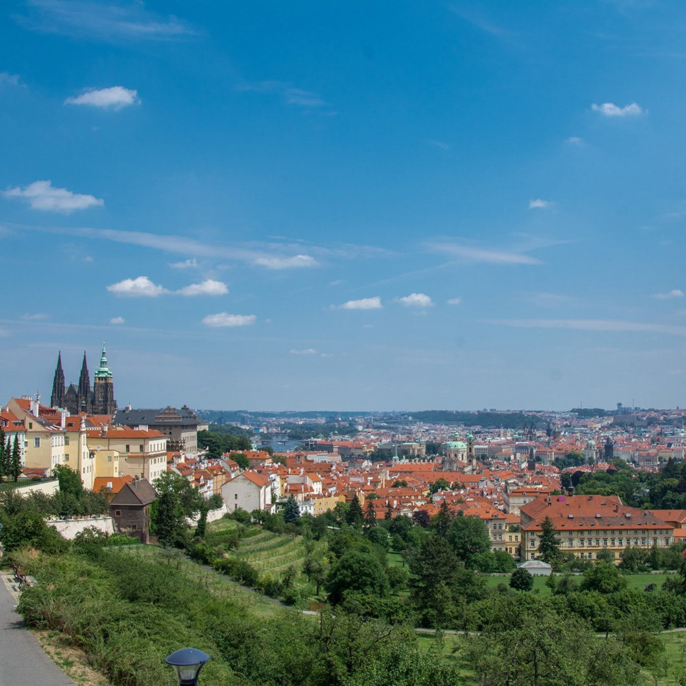 The Prague skyline during the day