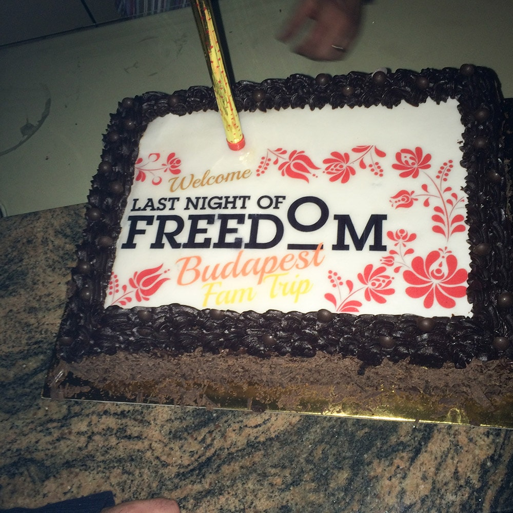 A cake dedicated to Last Night of Freedom