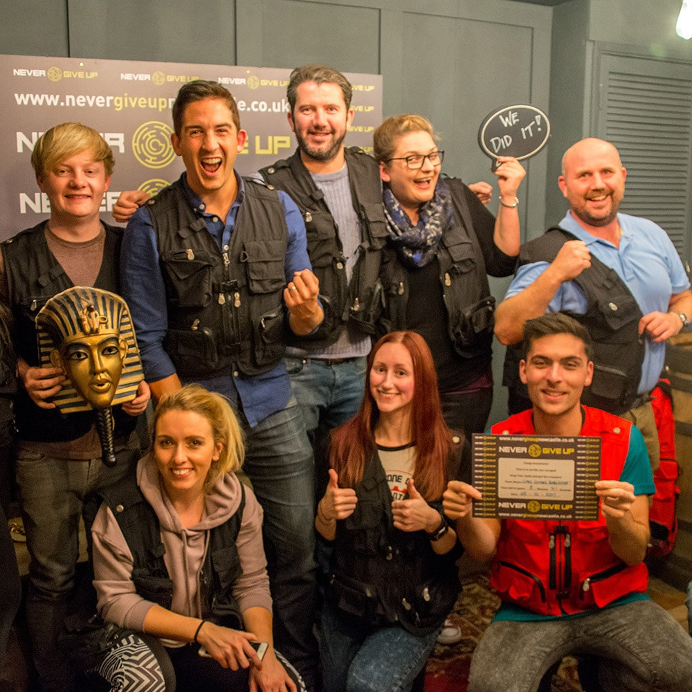 The victorious team at Escape Maze Newcastle