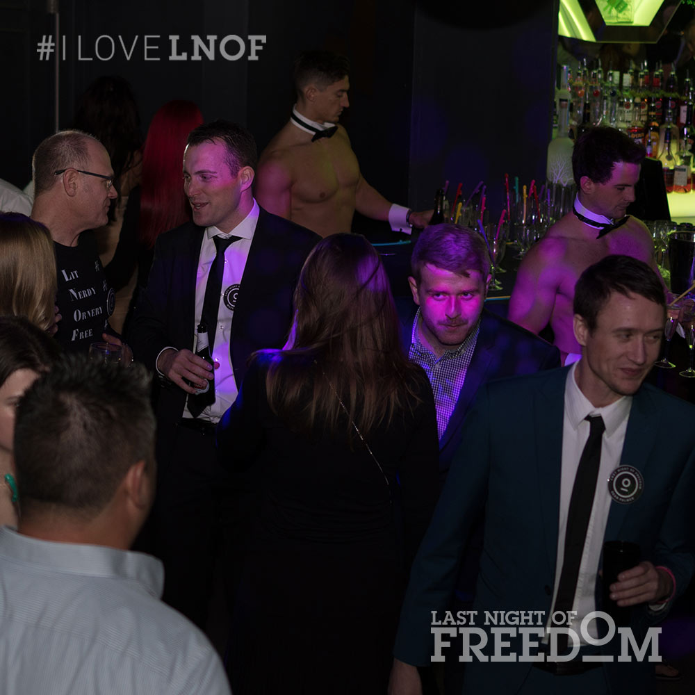 Some people at LNOF's London party