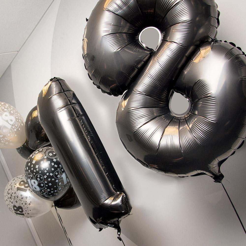 The 18th birthday balloons