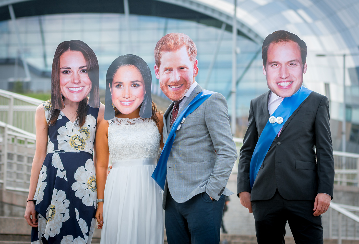 Prince Harry and Prince William with their partners