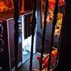 A photobooth visible through bars
