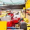 A kart at Prague's indoor karting circuit