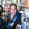 Prince William and Prince Harry mask wearers at the bar of Pitcher and Piano in Newcastle