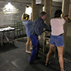 Two girls in a shooting range
