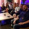 A group photo in Riga's Sky Bar