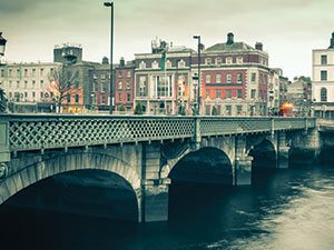 The Bridge over the River Liffey in Dublin