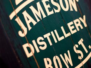 Jameson Distillery Bow St sign