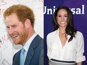 A split image of Prince Harry and Meghan Markle