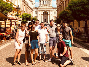An LNOF group shot in Budapest