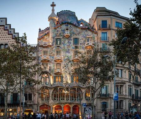 Some buildings in Barcelona