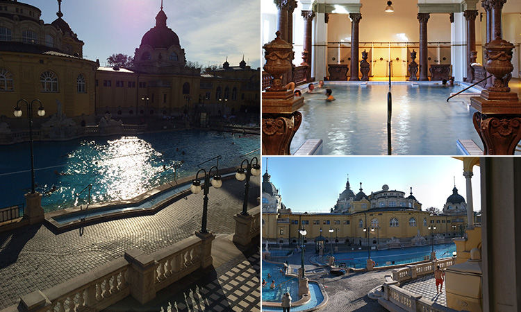 Three tiled images Szechenyi Thermal Baths
