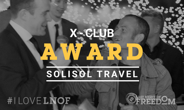 Ricky from Solisol Travel accepting his X Club Award