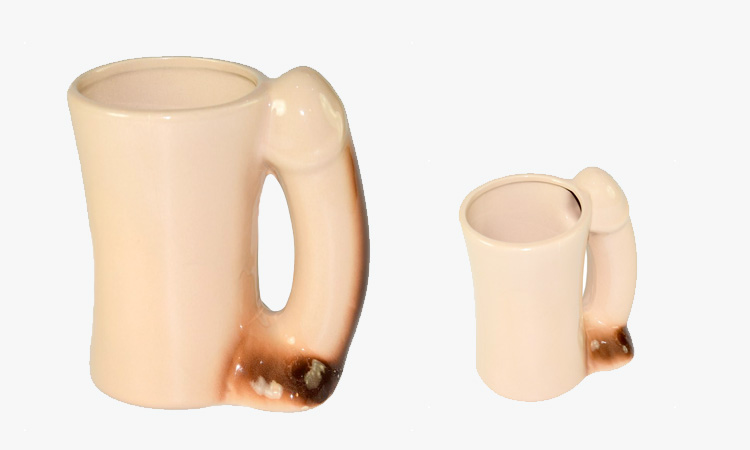 A mug with a penis as the handle