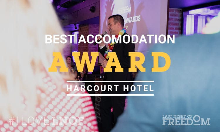 Matt announcing winner of best accommodation