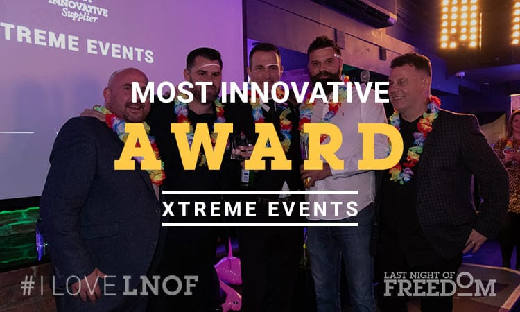 Matt presenting the Most Innovative award to Xtreme Events