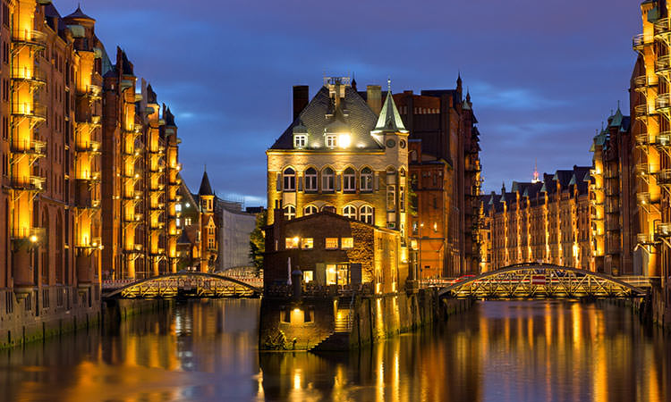Speicherstadt in Hamburg which is the largest warehouse district in the world