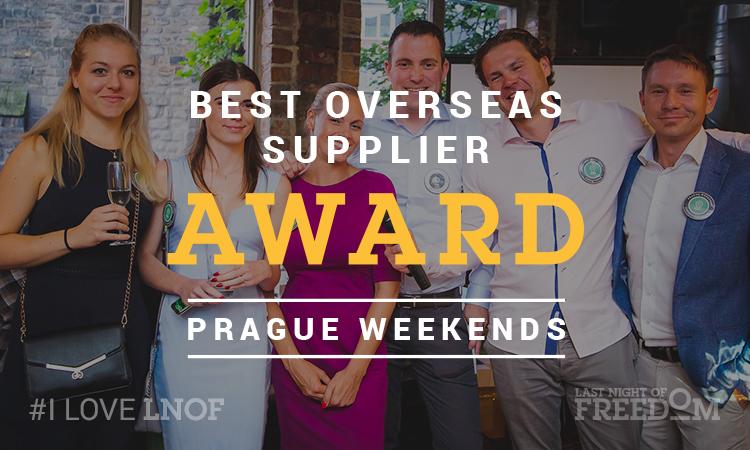 LNOF's Matt Mavir with the Best Overseas Supplier award winning team from Prague Weekends