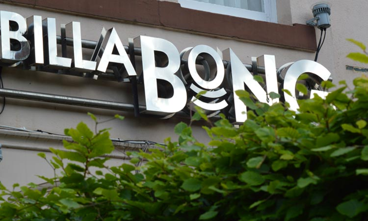 The exterior sign of Billabong, Jesmond