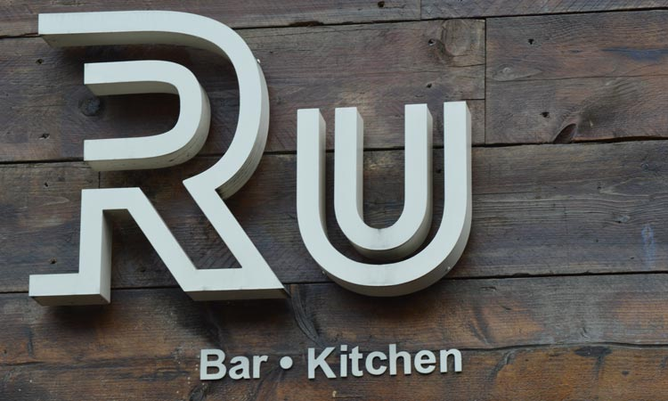 The exterior sign of R U Bar: Kitchen