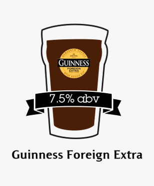 An illustration of Guinness Foreign Extra