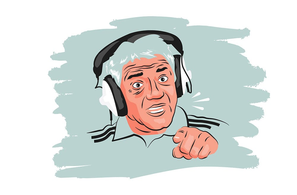 Illustration of Kevin Keegan pointing at the screen