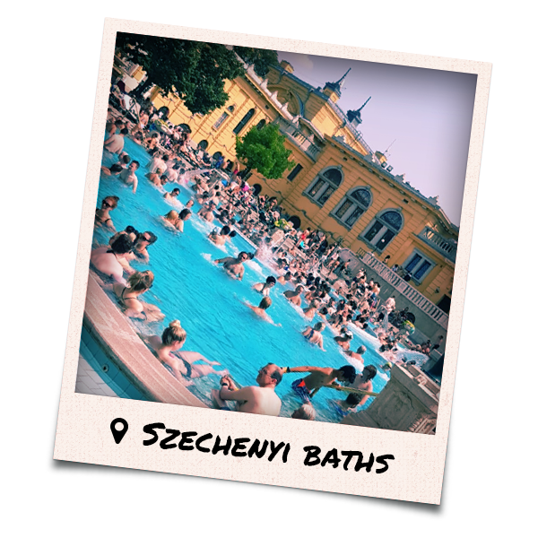 Lots of people in Szechenyi Baths