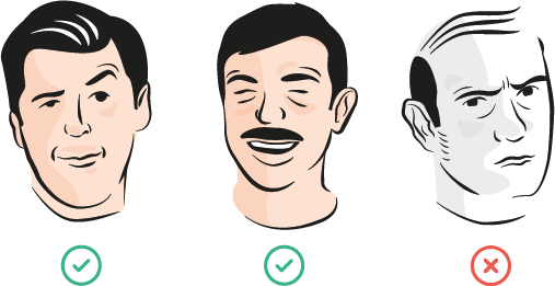 An illustration of three men on the stag do guestlist
