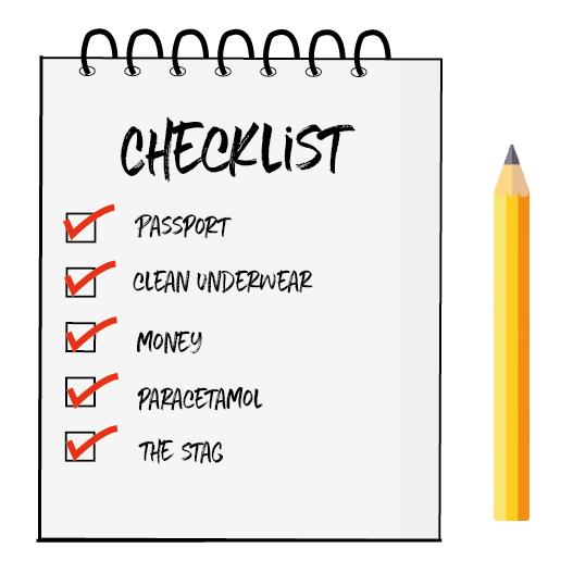 An illustration of a stag do checklist