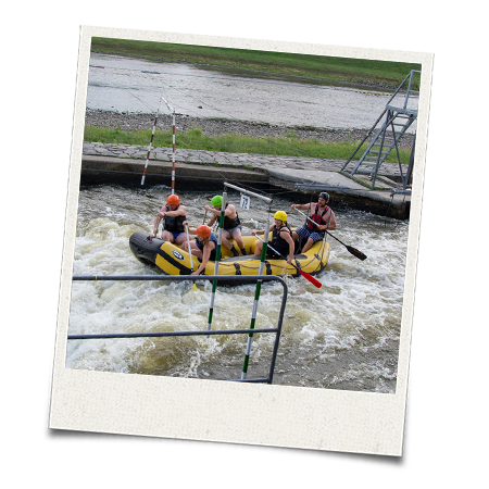 The LNOF team try out white water rafting