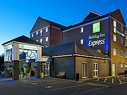 The exterior of Holiday Inn Express Metro Centre at dusk