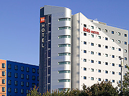 The Ibis hotel, Leeds, exterior during the day