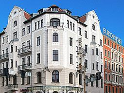 The exterior of the Hotel Europejski