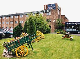 Exterior and grounds of the Britannia Hotel Newcastle Airport