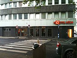 The exterior of the Hostel Koln