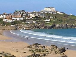 The coast of Newquay