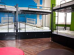 Bunk beds in a dorm room at 3City Hostel