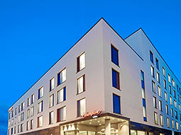The exterior of the Hampton by Hilton, Bournemouth