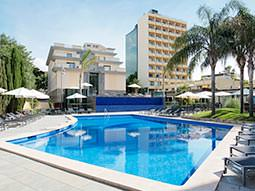 The exterior and swimming pool in Hotel Isla Mallorca and Spa
