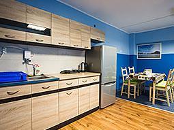 The kitchen at Moon Hostel
