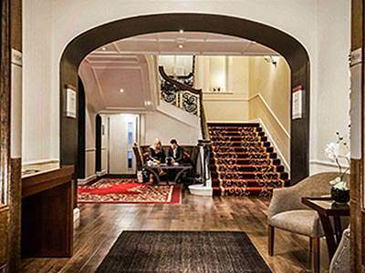 The grand entrance hall of The County Hotel in Newcastle