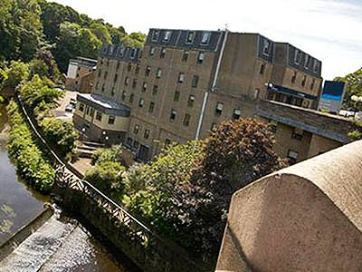 A hotel on the river banks in Edinburgh