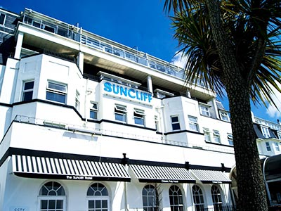 The exterior of Suncliff Hotel in Bournemouth