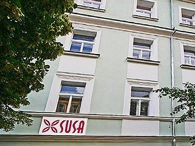 The exterior of the Susa Aparthotel
