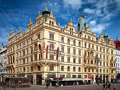 The exterior of Kings Court Hotel in Prague