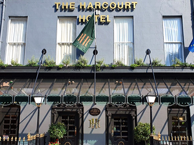The exterior of the Harcourt Hotel